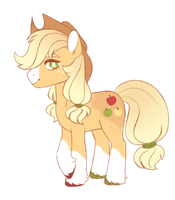 applejack is such a silly pony by S1NB0Y