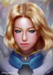 Mercy portrait sketch by Raphire
