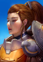 Overwatch: Brigitte portrait by Raphire