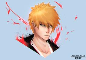 Ichigo Sketch by JohnnyAzad