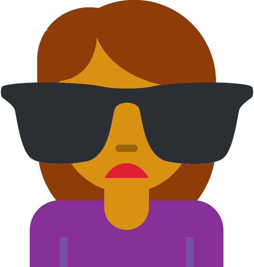 Discord custom emoji woman sunglasses recolor mariomarioaqw jpg 871x918 Custom  emoji e4a587bd9c71