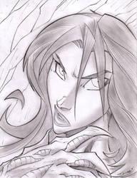 Witchblade Sketchshot by StevenSanchez