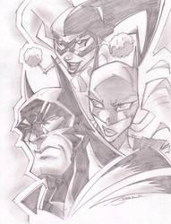 BatCrew Sketchshots by StevenSanchez