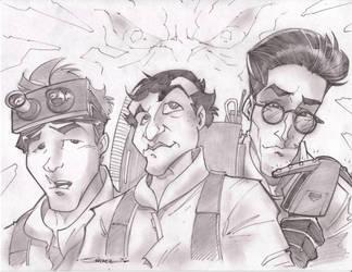 GhostBusters Gang Sketchshot by StevenSanchez