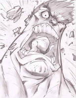HULK RAGE Sketch Shot by StevenSanchez