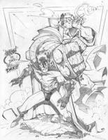 Bad Break Batman by StevenSanchez