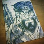 Punisher ReDesign Pen Sketch by StevenSanchez