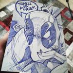 DEADPOOL Smell My Finger by StevenSanchez