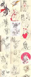 Doodle dump 32 by Ravoilie