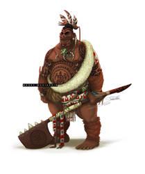 Maori Character by mrmohiuddin