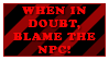 RP Stamp - Blame The NPC by Foxxie-Chan