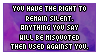 The Right To Remain Silent by Foxxie-Chan