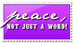 Peace: Not Just A Word by Foxxie-Chan