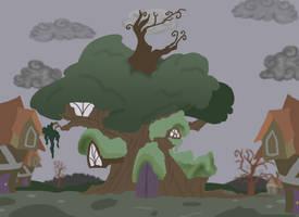 MLP FIM Pony Vile (tree house) by BleuKettu