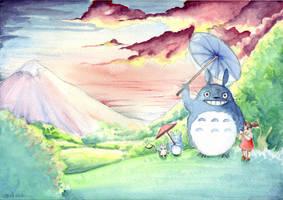 My neighbour Totoro by Wictorian-Art
