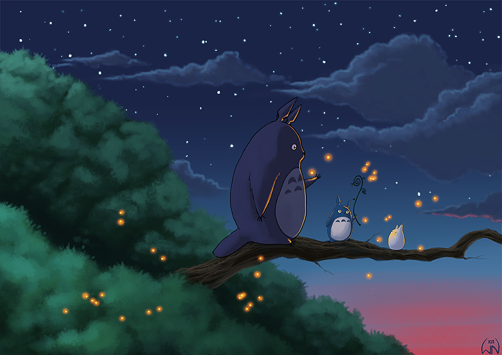 Totoro and friends by Wictorian-Art