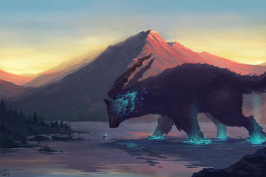 The Mountain God by Wictorian-Art