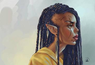 Darkelf by Wictorian-Art