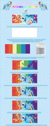 Photoshop Tutoriel -Rainobw Dash Vector _ by Pandemonium-Graph