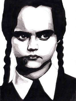 [Inktober]-Day5 // Wednesday _Addams by MarcMcKay