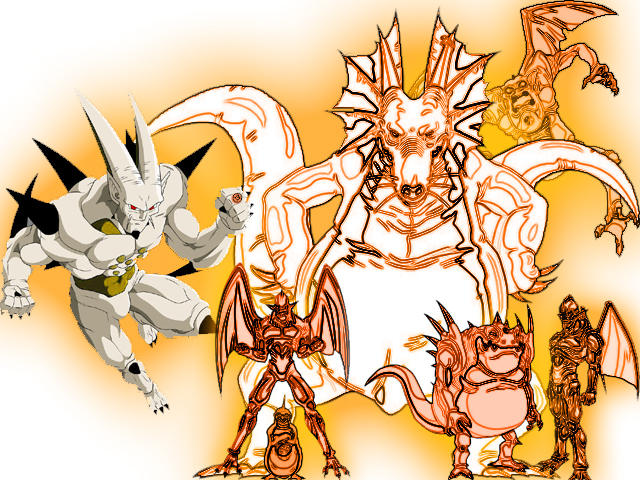 Orange Lantern Omega Shenron With Shadow Dragon Av By Lord Lycan On