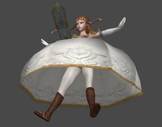 XPS - Princess Zelda Parachute Dress by ChillManStudios