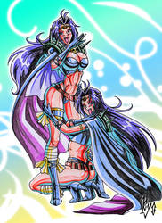Lina and Naga-I always wanted a twin sister X3 by batjap