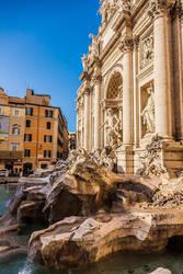 Trevi Fountain Rome by stevegek