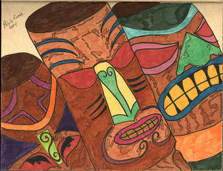 The Tiki Heads by creativesnatcher69