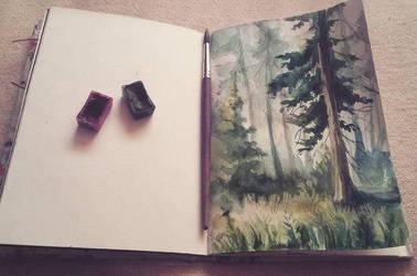 Sketchbook 1/16 Forest by odablood