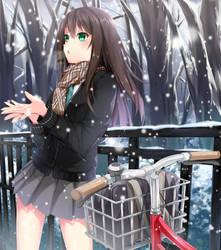 Shibuya Rin Under The Snow by Grazelz
