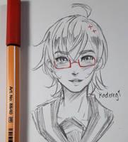 Info-chan doodle by OhKaderegi