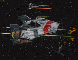RZ-1T A Wing Starfighter by Taipu556