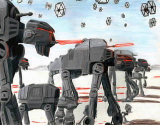 Battle of Crait-First Order by Taipu556