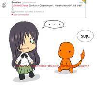 Hanako doesnt like fire pokemon by I-am-Miss-Duckie