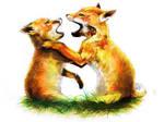 fox cubs by angel-poloo