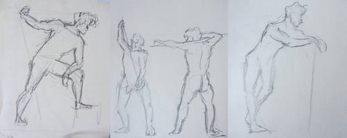 3 min pose nud model by angel-poloo