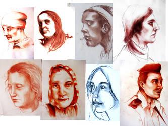 Portrait dump by angel-poloo