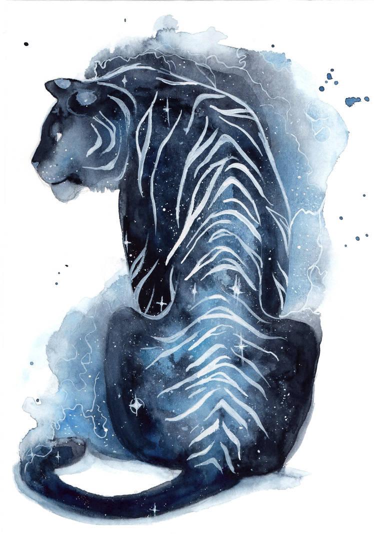 Galaxy Tiger by ThreeLeaves