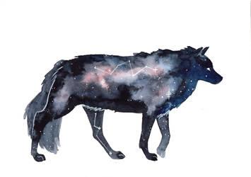 Galaxy Wolf by ThreeLeaves