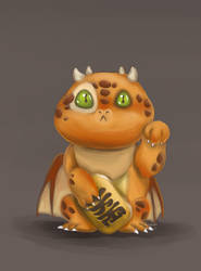 Maneki Dragon by ThreeLeaves