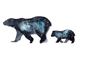 Ursa Major and Ursa Minor by ThreeLeaves