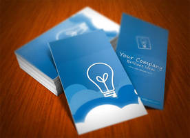 Vertical Clouds Business Card by bhertzel