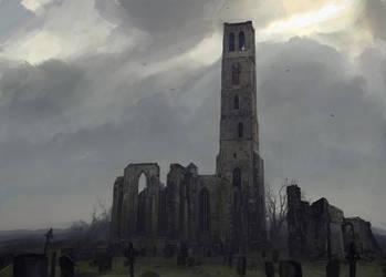 Desolated church by merl1ncz