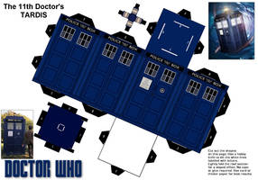 Series 5 papercraft Tardis by gfoyle