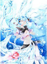 Hatsune Miku Bottle by Art-lantis