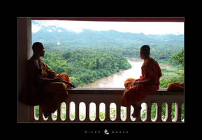 River monks by WideStrideMan