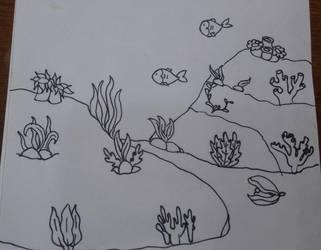 Inktober2017 Day 4 Underwater by Bonniecristalheart
