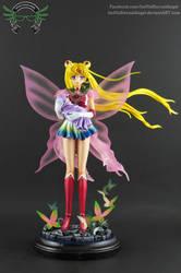 SOLD Custom Super Sailor Moon with Baby Hotaru by ImHisEternalAngel