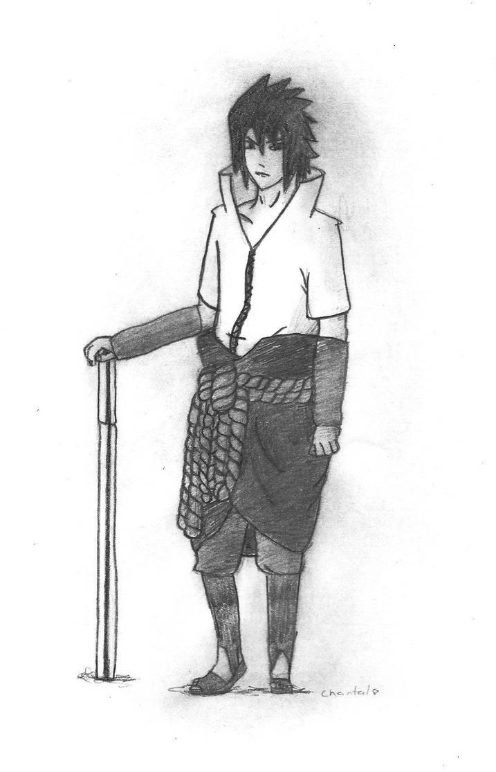 Sasuke pencil drawing by uchiha magan
